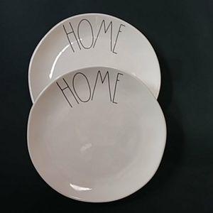 "Rae Dunn ""HOME"" Dinner Plates"